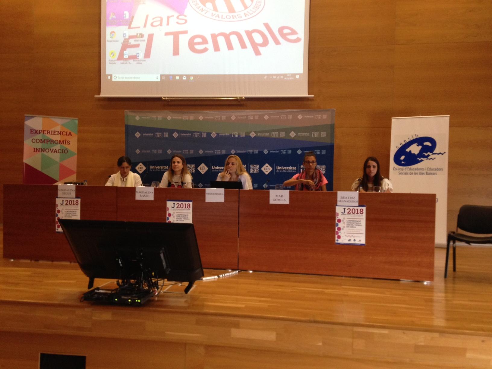 Taula rodona. Treball comunitari i en xarxa des d'àmbits especialitzats. Amadip·Esment i Ajuntament de Pollença.